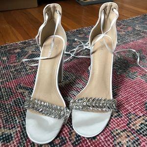 NEW Be Mine Bridal Priya Ivory Embellished Heels